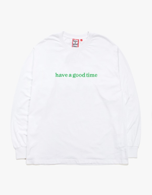 have a good time Side Logo L/S Tee - White | HEIGHTS. | 하이츠 온라인 스토어