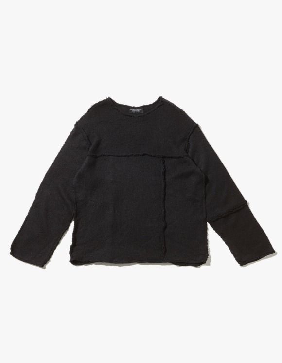 JOEGUSH Panel Inside Out Mohair Knit - Dark Navy | HEIGHTS. | 하이츠 온라인 스토어
