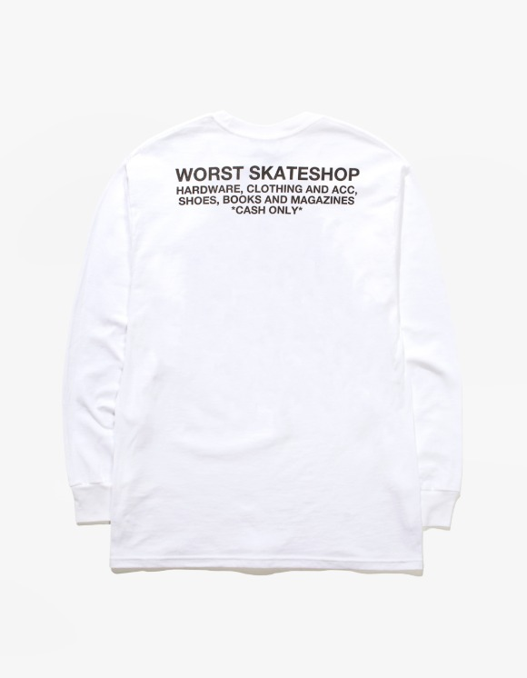 WORST SKATESHOP Flea Market L/S Tee - White | HEIGHTS. | 하이츠 온라인 스토어