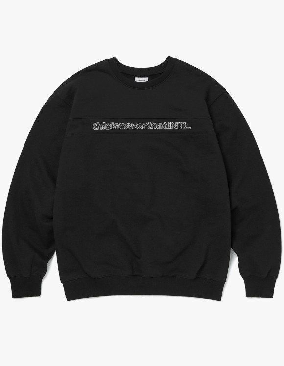thisisneverthat SP-INTL. Crewneck - Black | HEIGHTS. | 하이츠 온라인 스토어