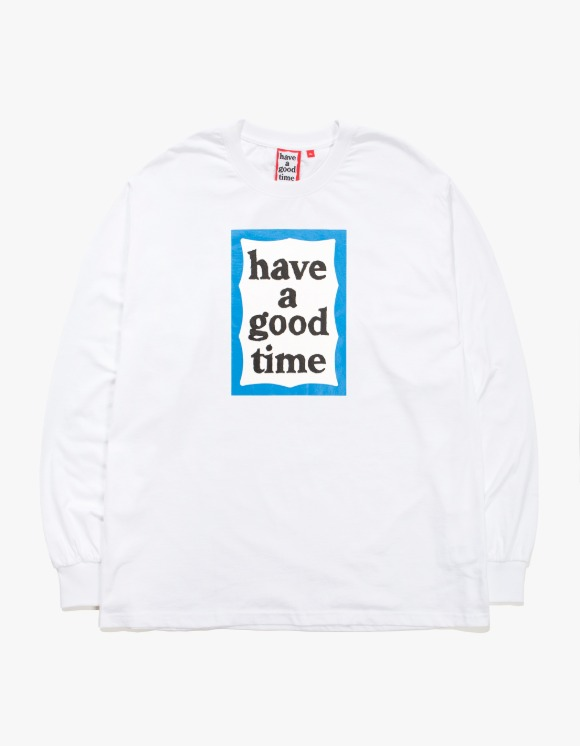 have a good time Blue Frame L/S Tee - White | HEIGHTS. | 하이츠 온라인 스토어