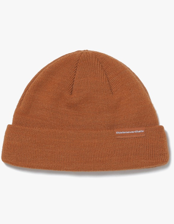 thisisneverthat SP-Logo Short Beanie - Brown | HEIGHTS. | 하이츠 온라인 스토어
