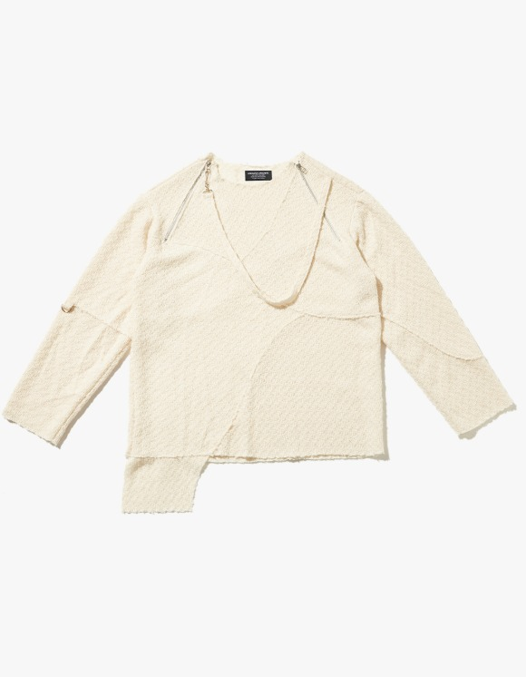 JOEGUSH Unbalanced Lining Knit - Ivory | HEIGHTS. | 하이츠 온라인 스토어