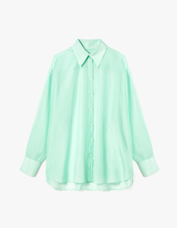 s/e/o Silk Sheer Shirt - Mint | HEIGHTS. | 하이츠 온라인 스토어