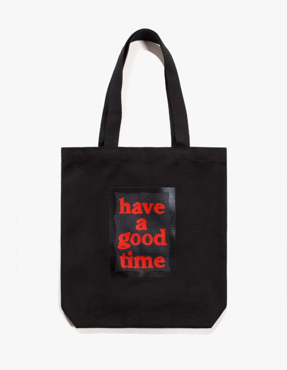 have a good time Black Frame Tote Bag - Black | HEIGHTS. | 하이츠 온라인 스토어