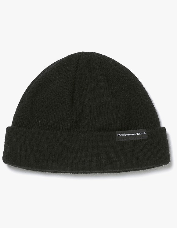thisisneverthat SP-Logo Short Beanie - Black | HEIGHTS. | 하이츠 온라인 스토어