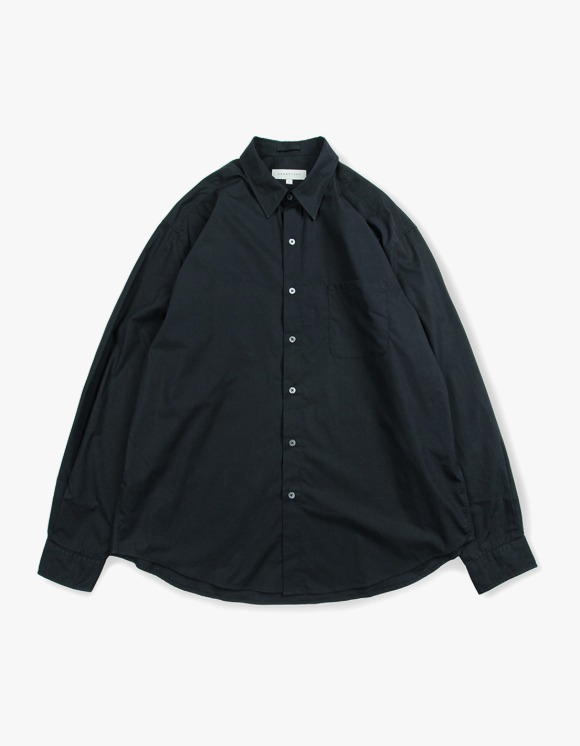 Brown Yard Steady Shirts - Navy | HEIGHTS. | 하이츠 온라인 스토어
