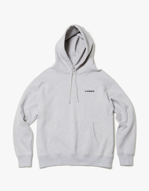 LORES Logo Pullover Hoodie - Heather Grey | HEIGHTS. | 하이츠 온라인 스토어