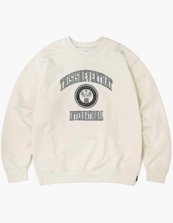 thisisneverthat DAD Crewneck - Ivory | HEIGHTS. | 하이츠 온라인 스토어
