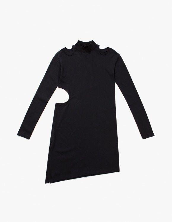 TheOpen Product Cut Out Turtle Neck Dress - Black | HEIGHTS. | 하이츠 온라인 스토어