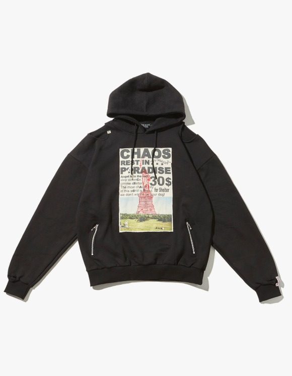 JOEGUSH Patched & Inside Out Hoodie - Black | HEIGHTS. | 하이츠 온라인 스토어