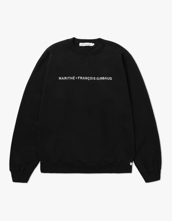 Marith+Franois Girbaud MARITHE FULL SIZE NAME LOGO SWEATSHIRT black | HEIGHTS. | 하이츠 온라인 스토어