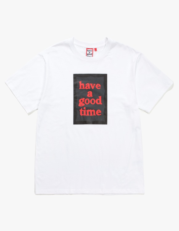 have a good time Black Frame S/S Tee - White | HEIGHTS. | 하이츠 온라인 스토어
