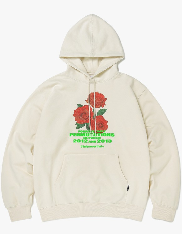 thisisneverthat Rose hooded Sweatshirt - Ivory | HEIGHTS. | 하이츠 온라인 스토어