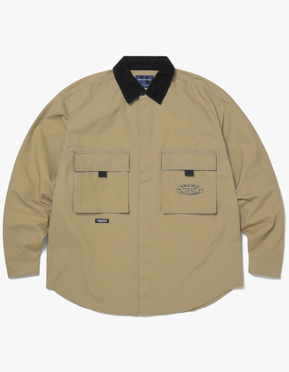 thisisneverthat Oxford Cargo Shirt - Beige | HEIGHTS. | 하이츠 온라인 스토어