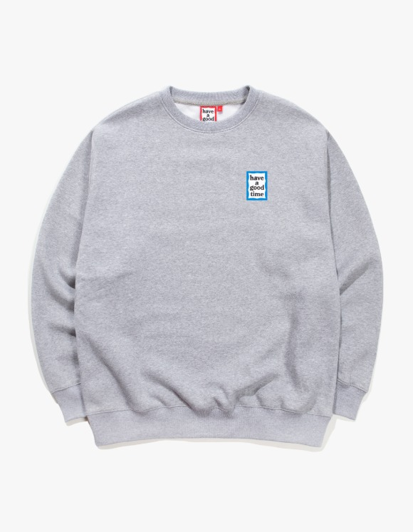 have a good time Mini Blue Frame Crewneck - Heather Grey | HEIGHTS. | 하이츠 온라인 스토어