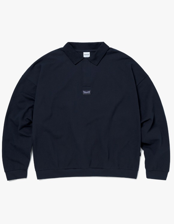 thisisneverthat 3 Button L/SL Polo - Dark Navy | HEIGHTS. | 하이츠 온라인 스토어