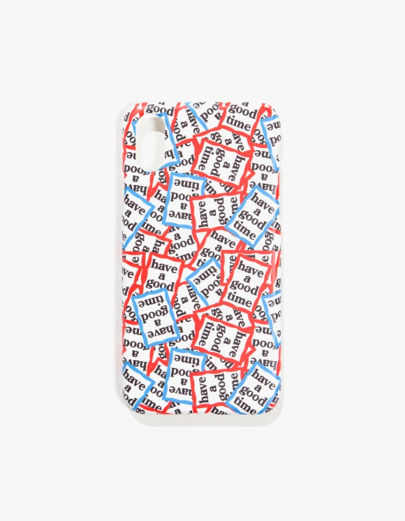 have a good time Red & Blue Frame Allover iPhone X/XS | HEIGHTS. | 하이츠 온라인 스토어