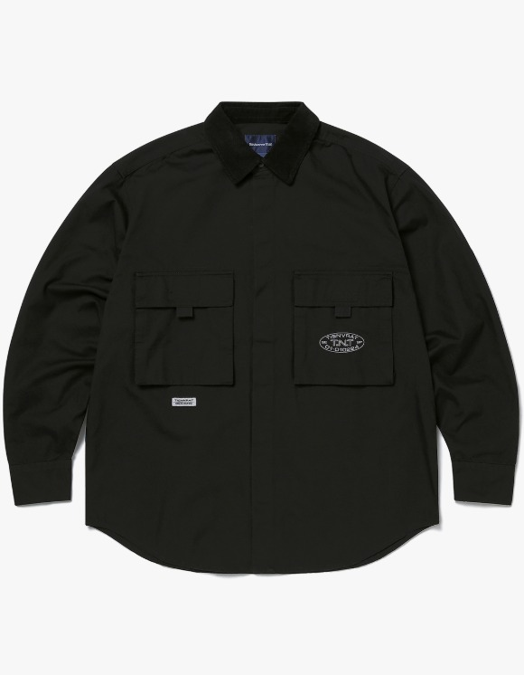 thisisneverthat Oxford Cargo Shirt - Black | HEIGHTS. | 하이츠 온라인 스토어