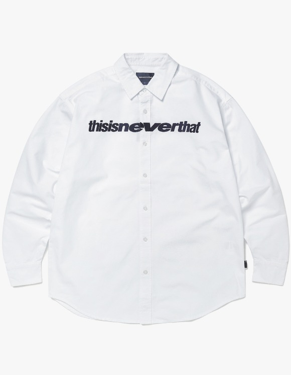 thisisneverthat D/SP-Logo Shirt - White | HEIGHTS. | 하이츠 온라인 스토어