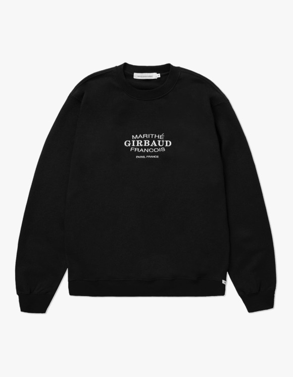 Marith+Franois Girbaud MARITHE OVAL LOGO SWEATSHIRT black | HEIGHTS. | 하이츠 온라인 스토어