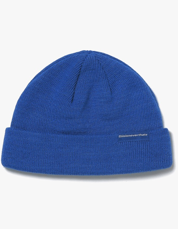 thisisneverthat SP-Logo Short Beanie - Blue | HEIGHTS. | 하이츠 온라인 스토어