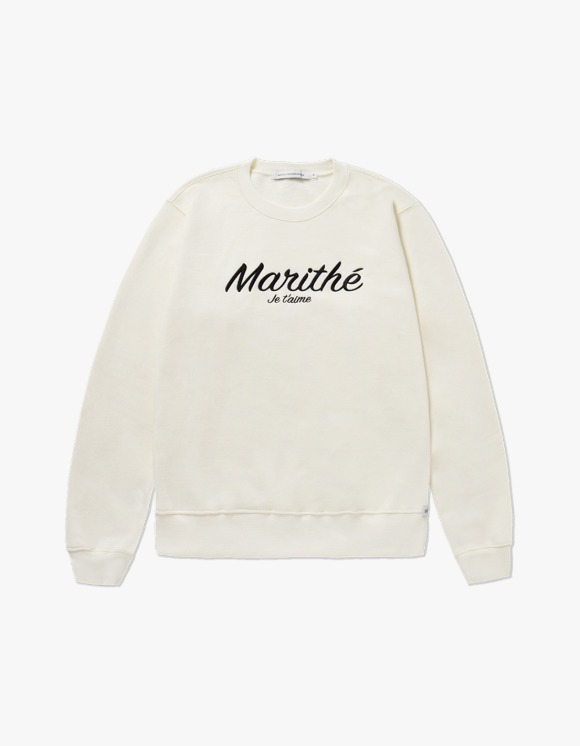 Marith+Franois Girbaud MARITHE MARITHE SWEATSHIRT cream | HEIGHTS. | 하이츠 온라인 스토어
