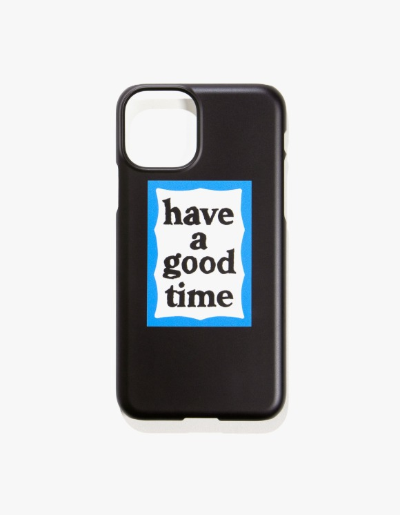 have a good time Blue Frame iPhone Case 11/11 Pro - Black | HEIGHTS. | 하이츠 온라인 스토어