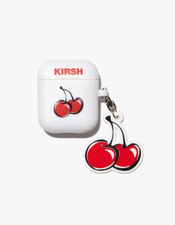KIRSH Cherry Keyring AirPods Case JA - White | HEIGHTS. | 하이츠 온라인 스토어