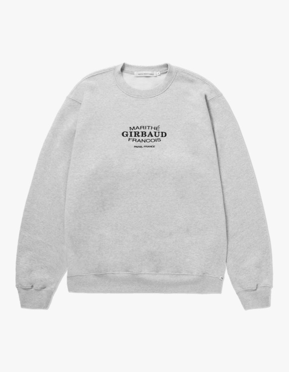 Marith+Franois Girbaud MARITHE OVAL LOGO SWEATSHIRT heather gray | HEIGHTS. | 하이츠 온라인 스토어
