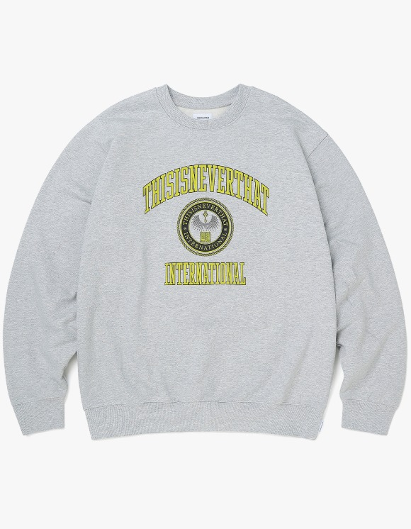 thisisneverthat DAD Crewneck - Grey | HEIGHTS. | 하이츠 온라인 스토어