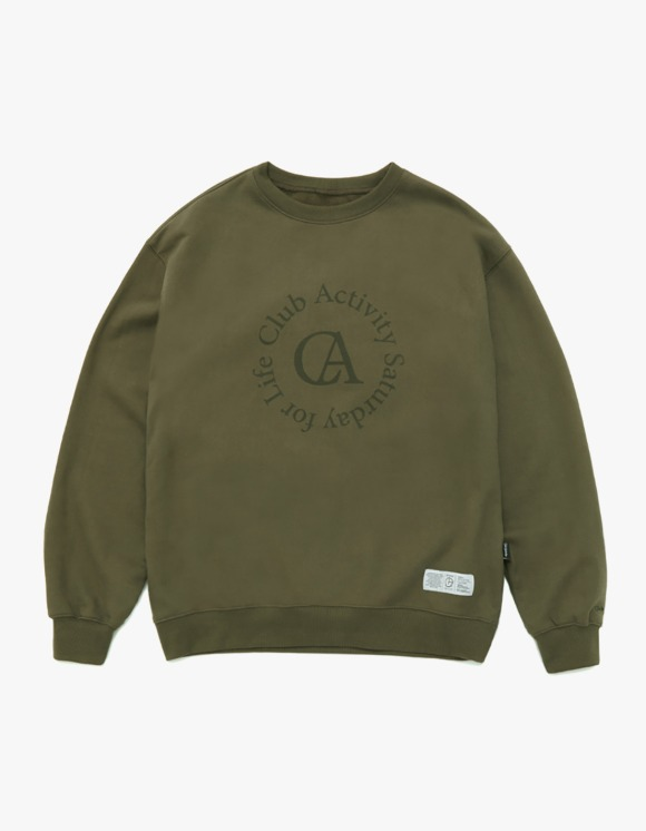 Club Activity Circle logo Crewneck - Olive Green | HEIGHTS. | 하이츠 온라인 스토어