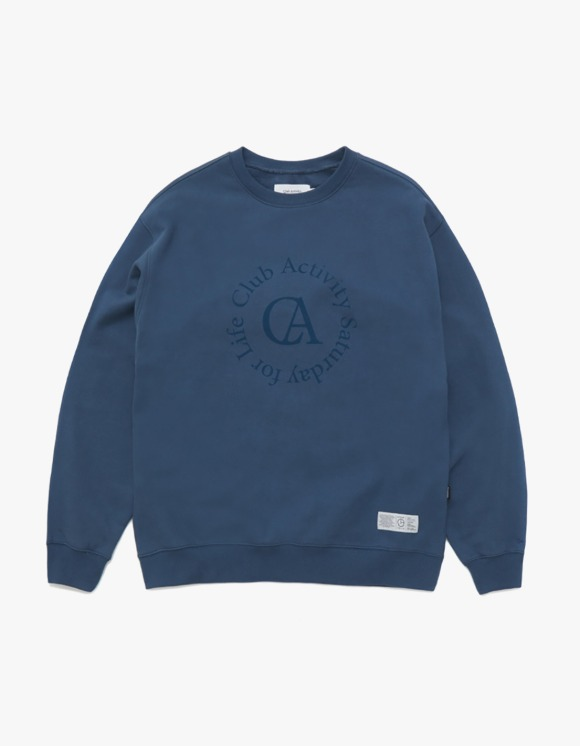 Club Activity Circle logo Crewneck - Indigo Blue | HEIGHTS. | 하이츠 온라인 스토어