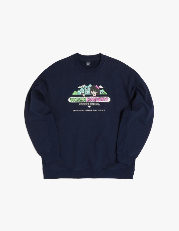 WKNDRS Sweet 90's Sweat Shirt - Navy | HEIGHTS. | 하이츠 온라인 스토어