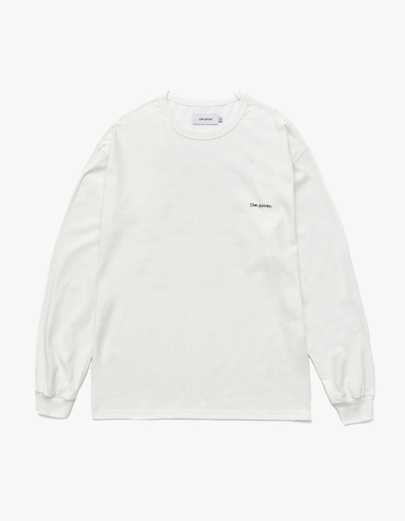 Club Activity Mountain Ranking Long Sleeves - White | HEIGHTS. | 하이츠 온라인 스토어