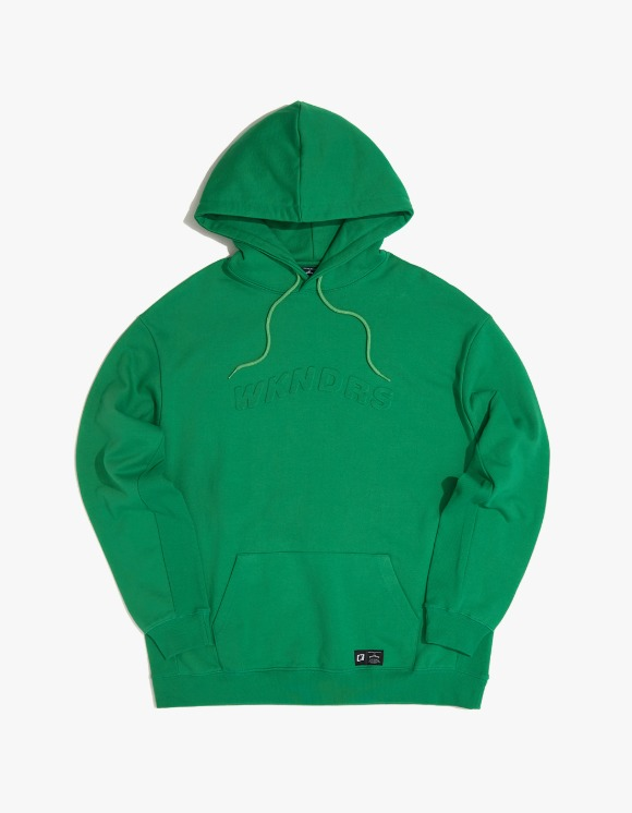 WKNDRS Embossed Logo Hoodie - Green | HEIGHTS. | 하이츠 온라인 스토어