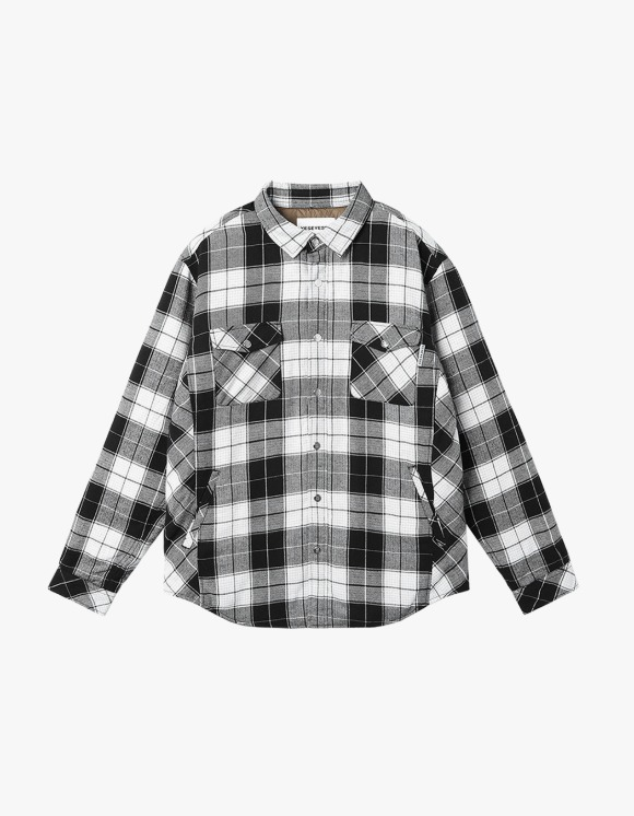 yeseyesee Check Quilted Shirts - Black | HEIGHTS. | 하이츠 온라인 스토어