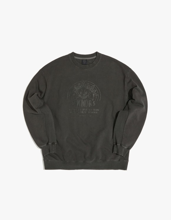 WKNDRS Smile Sweat Shirt - Charcoal | HEIGHTS. | 하이츠 온라인 스토어