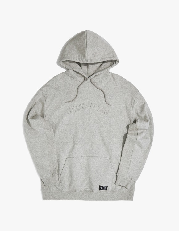 WKNDRS Embossed Logo Hoodie - Grey | HEIGHTS. | 하이츠 온라인 스토어