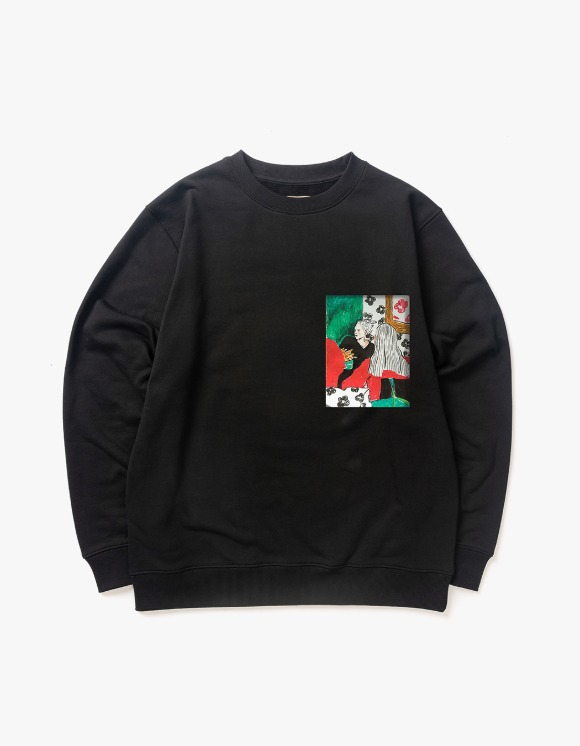 Victoria Hong Kong Two Ladies Crewneck - Black | HEIGHTS. | 하이츠 온라인 스토어