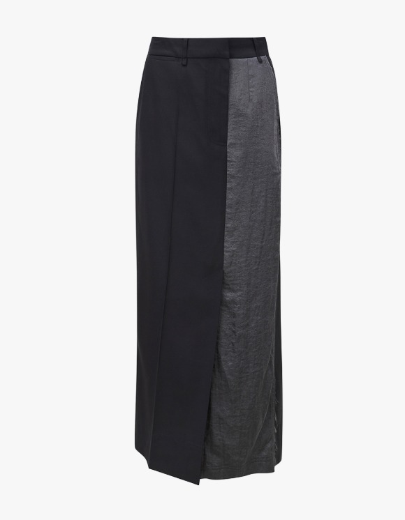 TheOpen Product Panelled Straight Long Skirt - Black | HEIGHTS. | 하이츠 온라인 스토어