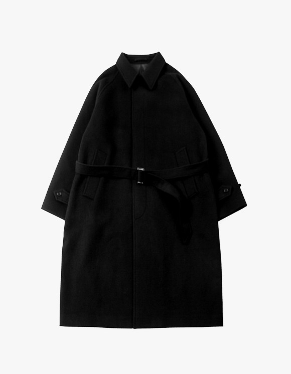 Brown Yard Balmacaan Coat - Black | HEIGHTS. | 하이츠 온라인 스토어