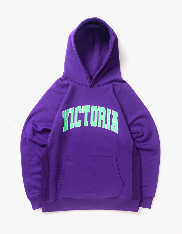 Victoria Hong Kong Varsity Fleece Hoodie - Purple | HEIGHTS. | 하이츠 온라인 스토어