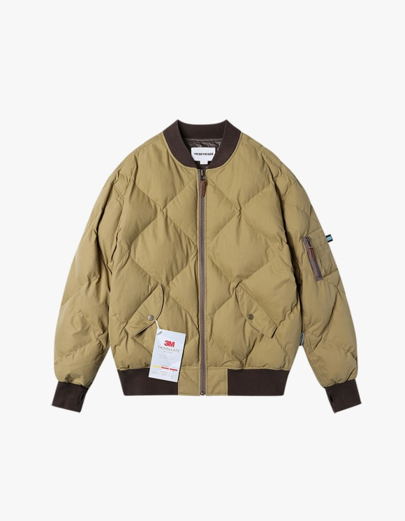 yeseyesee MA1 Puffer Jacket - Beige | HEIGHTS. | 하이츠 온라인 스토어