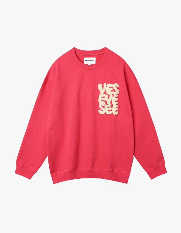 yeseyesee Y.E.S Heights Sweatshirts - Red | HEIGHTS. | 하이츠 온라인 스토어