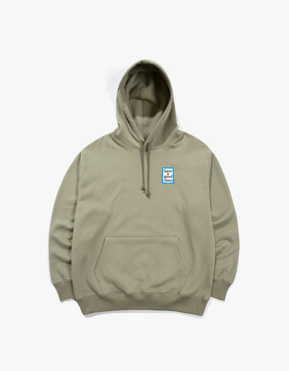 have a good time Mini Blue Frame Pullover Hoodie - Sage | HEIGHTS. | 하이츠 온라인 스토어