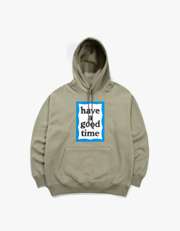 have a good time Blue Frame Pullover Hoodie - Sage | HEIGHTS. | 하이츠 온라인 스토어