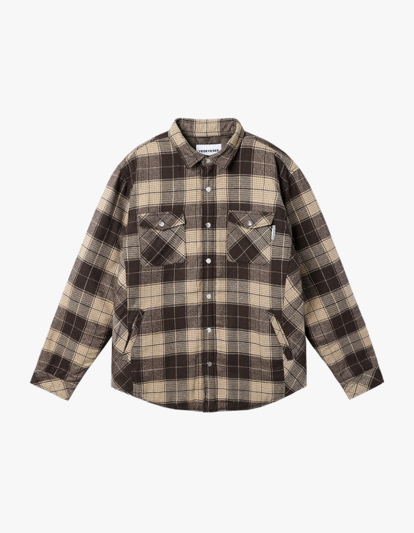 yeseyesee Check Quilted Shirts - Brown | HEIGHTS. | 하이츠 온라인 스토어