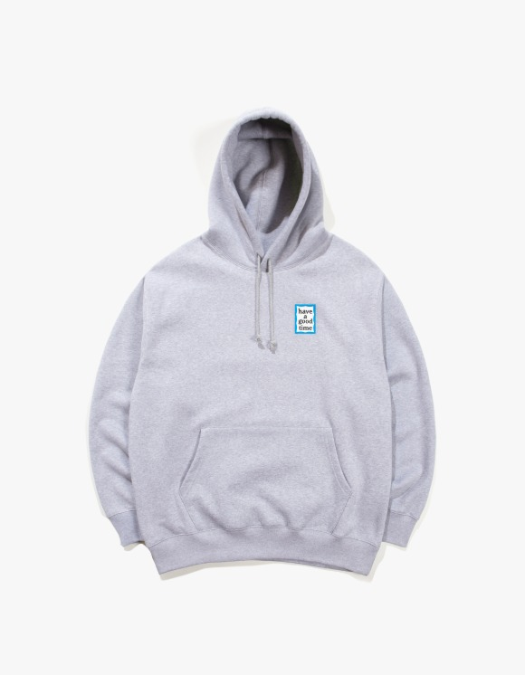 have a good time Mini Blue Frame Pullover Hoodie - Heather Gray | HEIGHTS. | 하이츠 온라인 스토어
