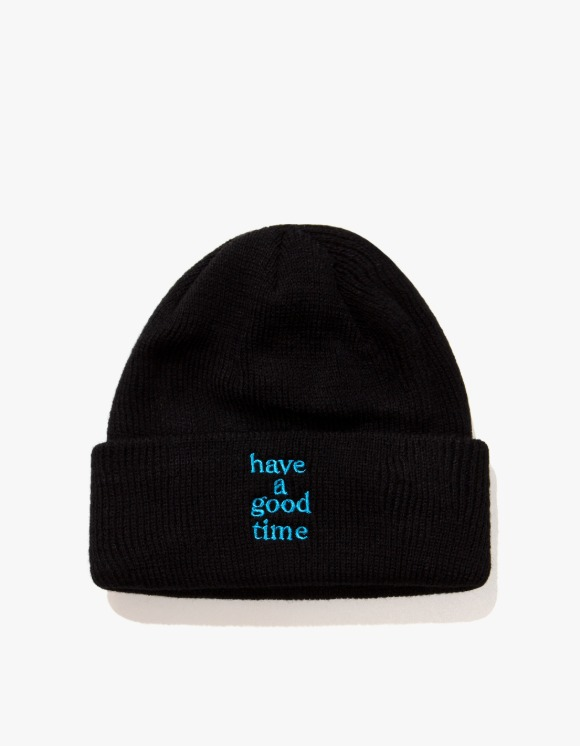 have a good time Logo Beanie - Black | HEIGHTS. | 하이츠 온라인 스토어